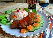 Kachní prsa plněná mrkví na černém pivu