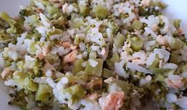 Rizoto s lososem a brokolicí - pro nejmenší