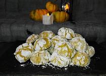 Dýňové sušenky/Pumpkin crinkle cookies