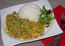 Hlíva s tofu na kari