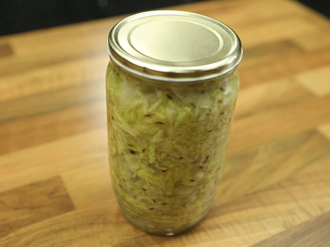 Kysané zelí do sklenic