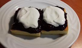 Alsaský tvarohový koláč (bez mouky)