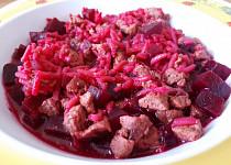 Hovězí rizoto s červenou řepou - pro nejmenší