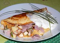 Jablkovo-šunková omeleta