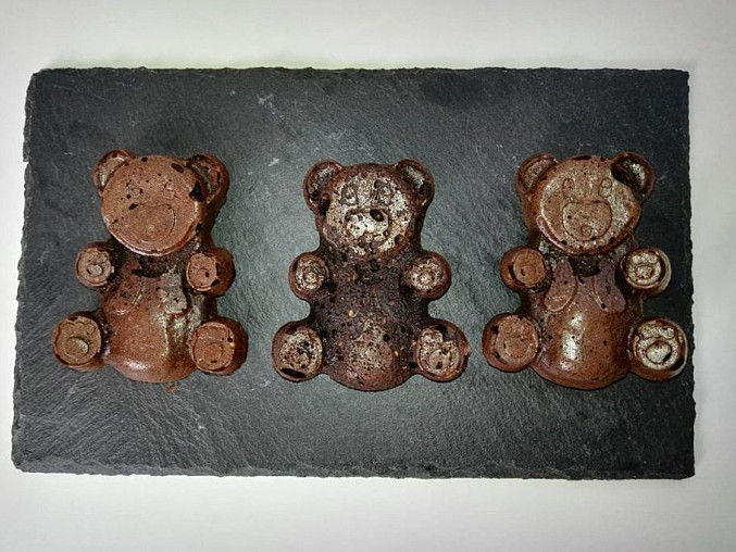 Kakaoví medvídci s chia semínky a jogurtem - BEZ LEPKU