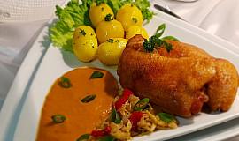 Kuřecí stehna na kapustě a zelenině