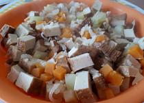 Tofu s batátem a cuketou