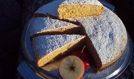 Vláčná šlehačková buchta / bábovka s jablky