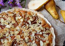 Mandlový koláč s hruškami