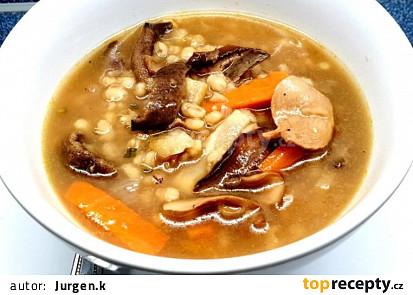 Podzimní houbová polévka