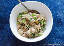 Vepřové kostky se žampiony a rýží