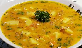 Drožďová polévka s pohankou