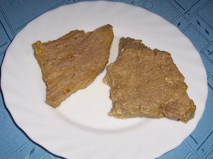 vemínko již uvařené a nakrájené na plátky - z 500 g syrového jsem měla 4 takovéto plátky