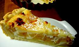 Krémový koláč s jablky