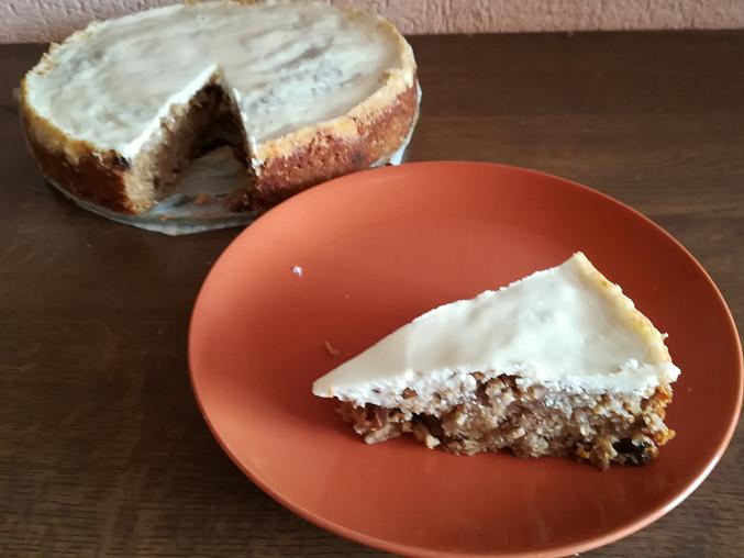 Jablečný ovesný koláč, První pokus - myslím že se zadařilo...;)