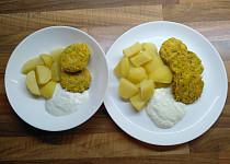 Kapustové karbanátky s ovesnými vločkami a mrkví pečené v troubě