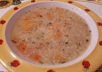 Quinoa-vločková polévka s mrkví a batátem - pro nejmenší