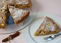 Jablečný koláč se skořicí a mandlemi