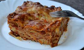 Lasagne s mletým masem bez bešamelu