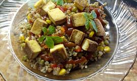 Opékané tofu s pohankou