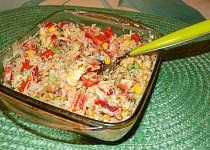 Rýžový salát s kari zálivkou
