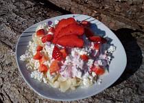 Jahodové těstoviny