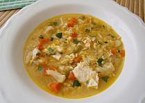Jarní zeleninová polévka s vejci
