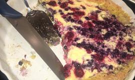 Koláč s tvarohovo-ovocnou náplní