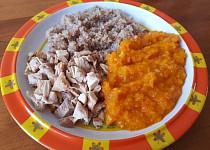 Pečené paprikové kuře s pohankovým bulgurem a dýní Hokkaido - pro nejmenší