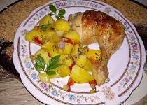 Tymiánové kuře s bramborami