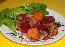 Zelenina zapékaná s vařeným masem