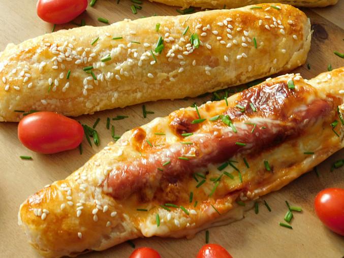 Hot dog z listového těsta