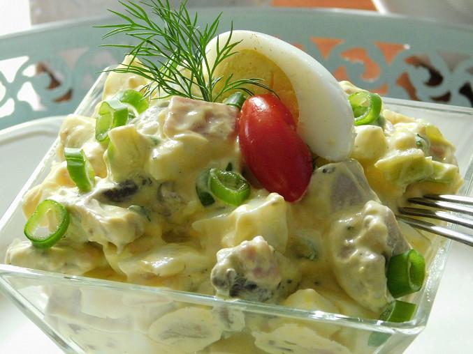 Žampionový salát s vejci