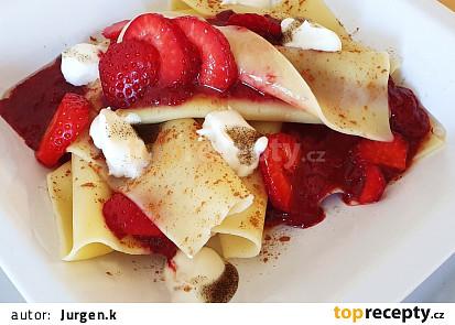 Jahodové lasagne s tvarohem