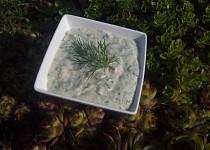 Hermelínová pomazánka (dip) s koprem