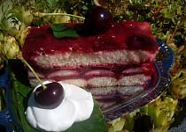 Nepečený třešňový řez / dort