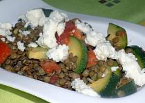 Čočkový salát s brynzou