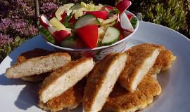Kuřecí placičky s Nivou a šunku