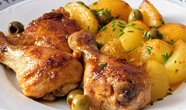 Jednoduché kuře s bramborami