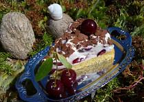 Osvěžující višňový dort/řez