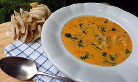 Bramborová polévka s hlívou a smetanou