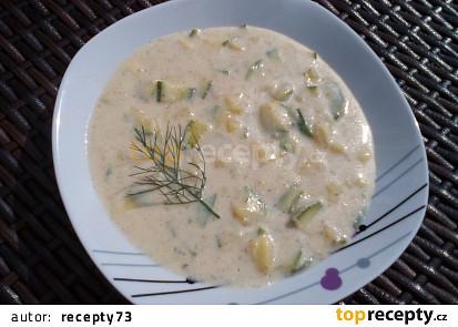 Bramborovo-cuketová polévka s koprem