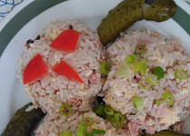 Veselé rizoto s uzeným a míchanými vejci