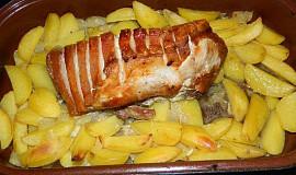 Bůček na bramborách