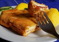 Smažená pýchavka s uzeným sýrem a Vysočinou