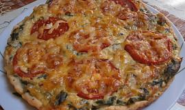 Špenátový koláč s rajčaty
