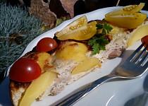 Zapečené smetanovo-sýrové kuře s bramborem