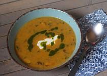 Houbová polévka s libečkem