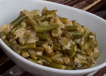 Hořčicové fazolky - teplý salát, příloha...