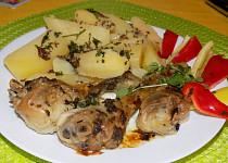 Kuře na majoránce a česneku